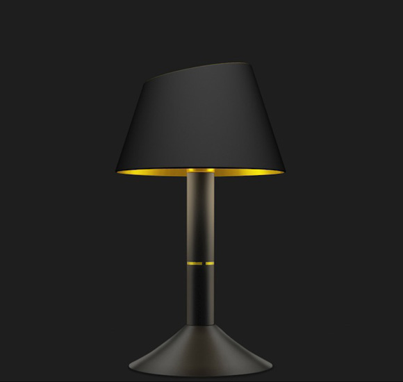 THEA custom Limited Limited deep space black table lamp